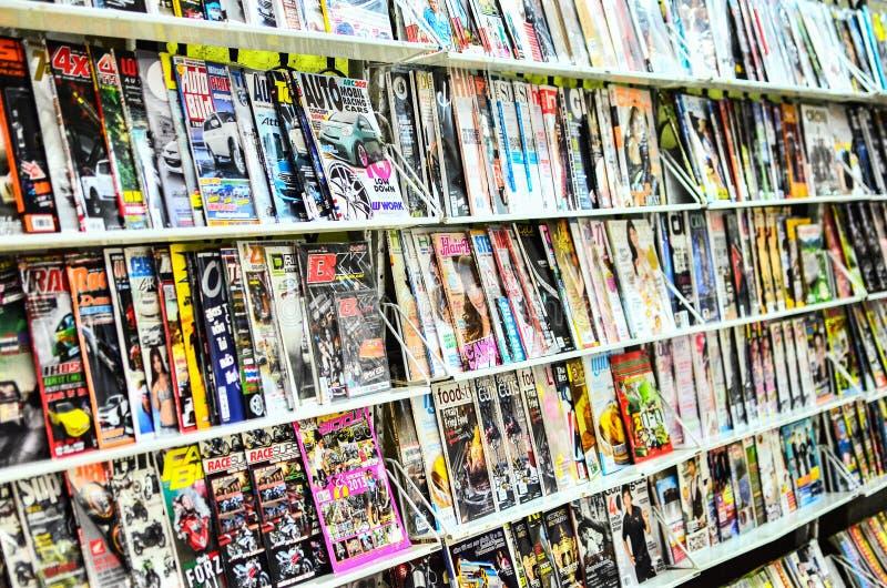 Boutique de magazine de la Thaïlande. photos libres de droits
