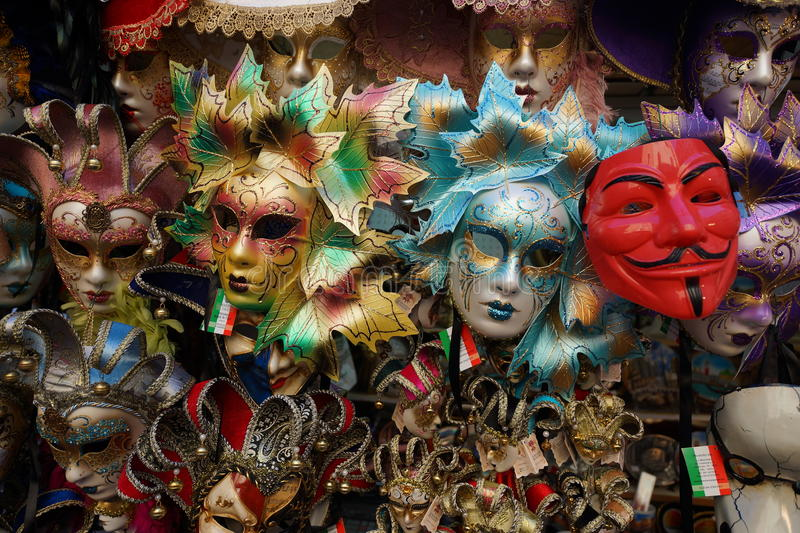 Boutique de masque de carnaval de Venise photographie stock libre de droits