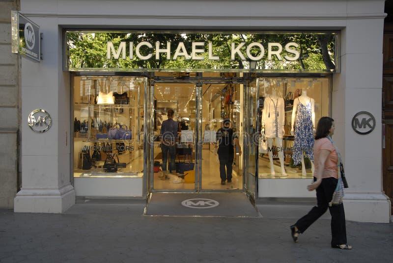 Boutique de Michael Kors photographie stock libre de droits