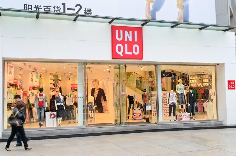Boutique de mode d'Uniqlo photo stock
