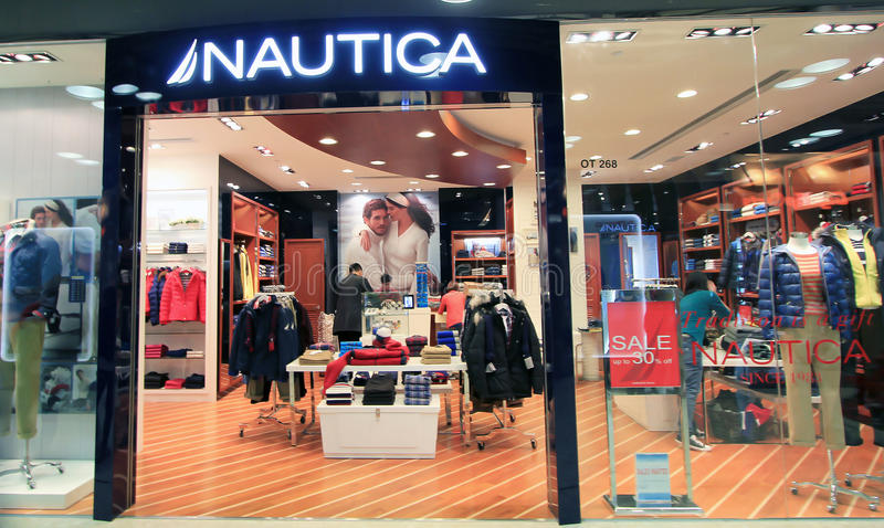 Boutique de Nautica à Hong Kong photo libre de droits
