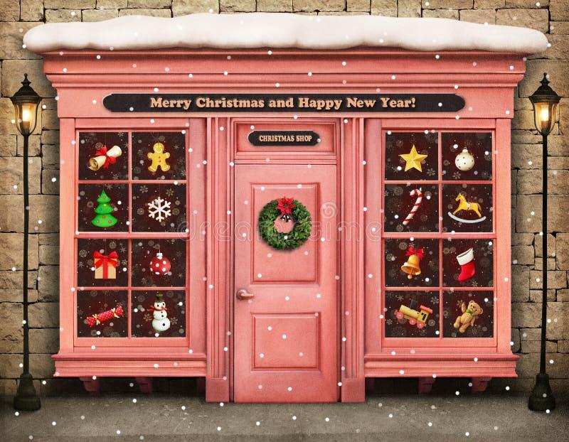 Boutique de Noël photographie stock libre de droits