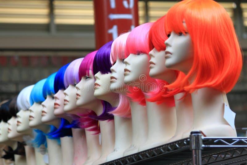 Boutique de perruque au marché Melbourne de Victoria photo stock