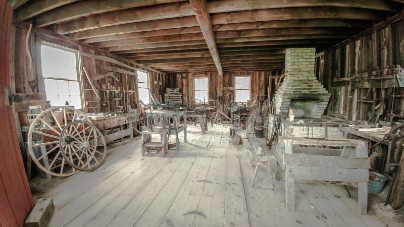 Boutique de roues - Vieux Monde le Wisconsin photos libres de droits