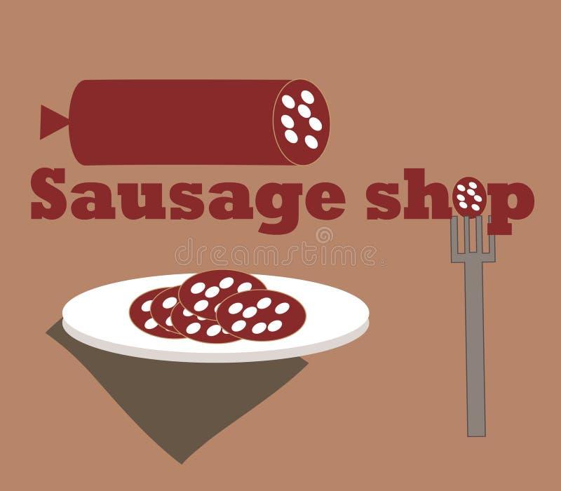 Boutique de saucisse illustration libre de droits