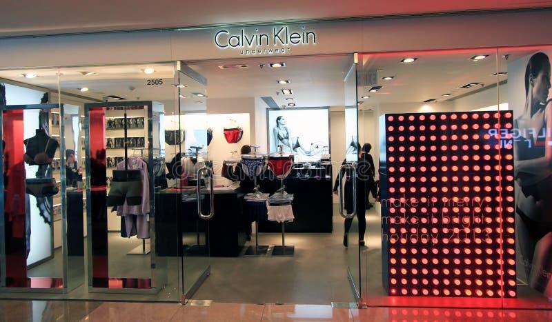 Boutique de sous-vêtements de Calvin Klein en Hong Kong image libre de droits