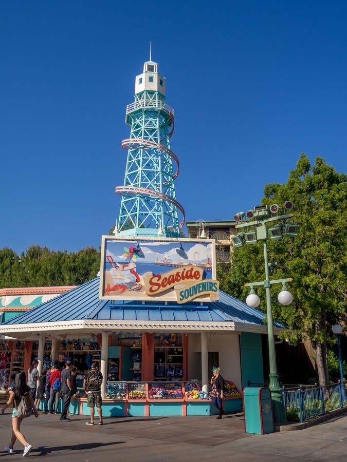 Boutique de souvenirs au pilier de paradis à Disney photo stock