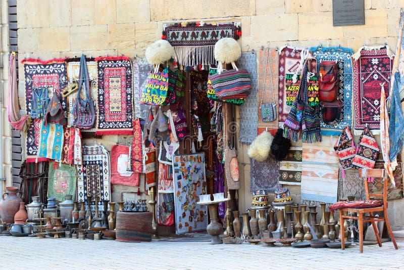 Boutique de souvenirs dans Icherisheher, Bakou, Azerbaïdjan photographie stock libre de droits