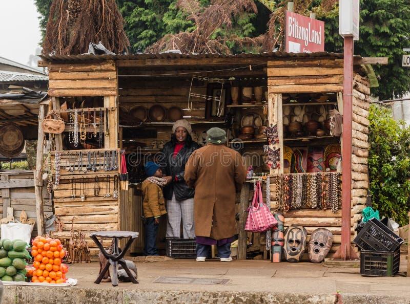 Boutique de souvenirs en Afrique du Sud photographie stock libre de droits