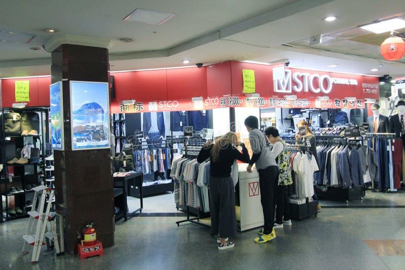 Boutique de Stco à Séoul image libre de droits
