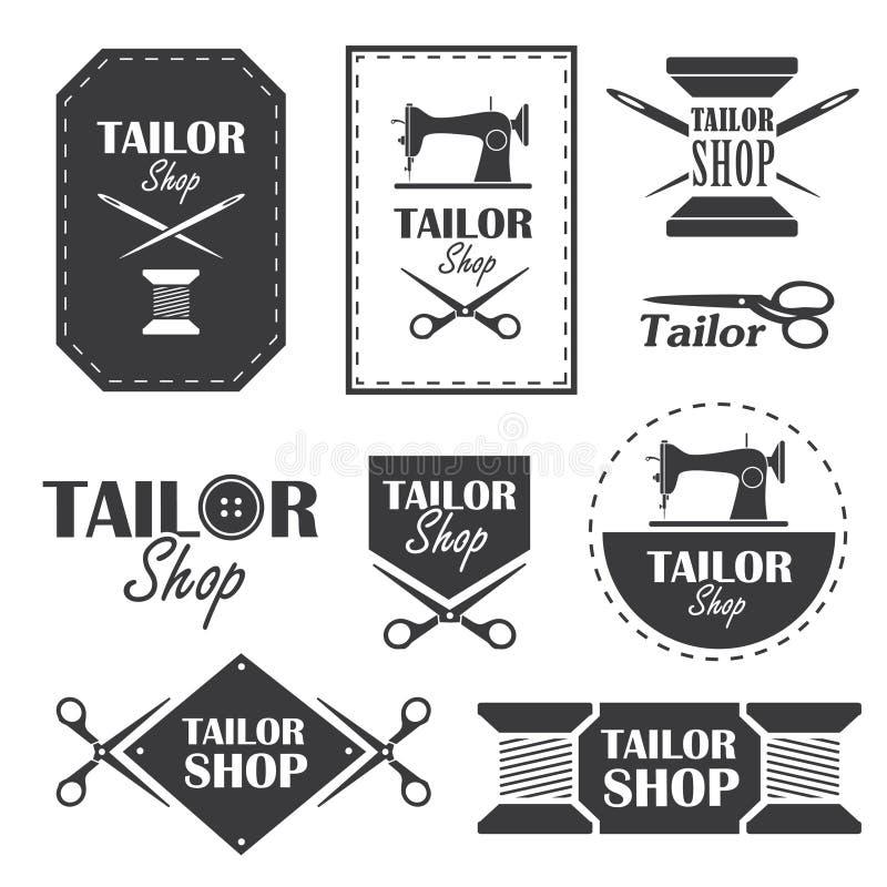 Boutique de tailleur illustration de vecteur