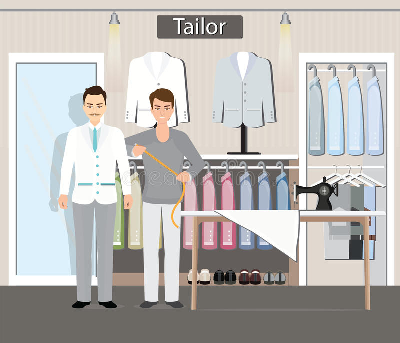 Boutique de tailleur illustration stock