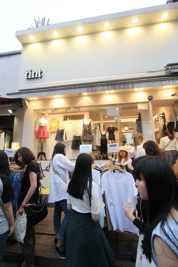 Boutique de teinte à Séoul photo libre de droits