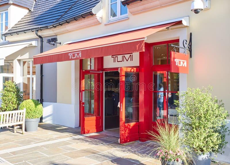 Boutique de Tumi en el pueblo de Vallee del La foto de archivo libre de regalías