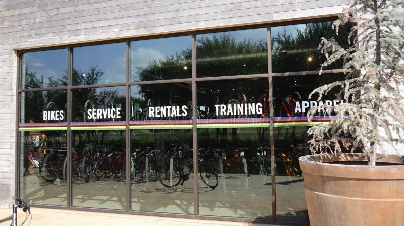 Boutique de vélo images stock