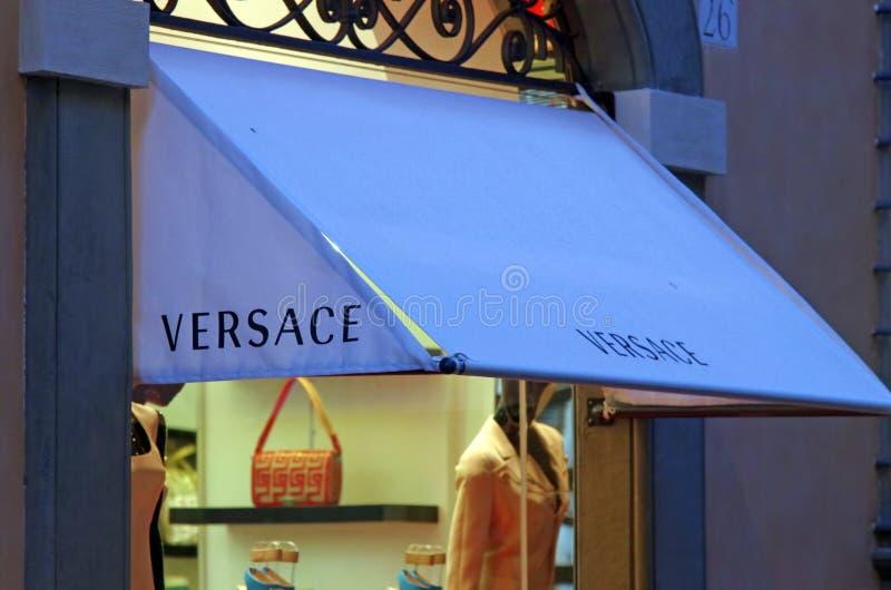 Boutique de Versace photo stock