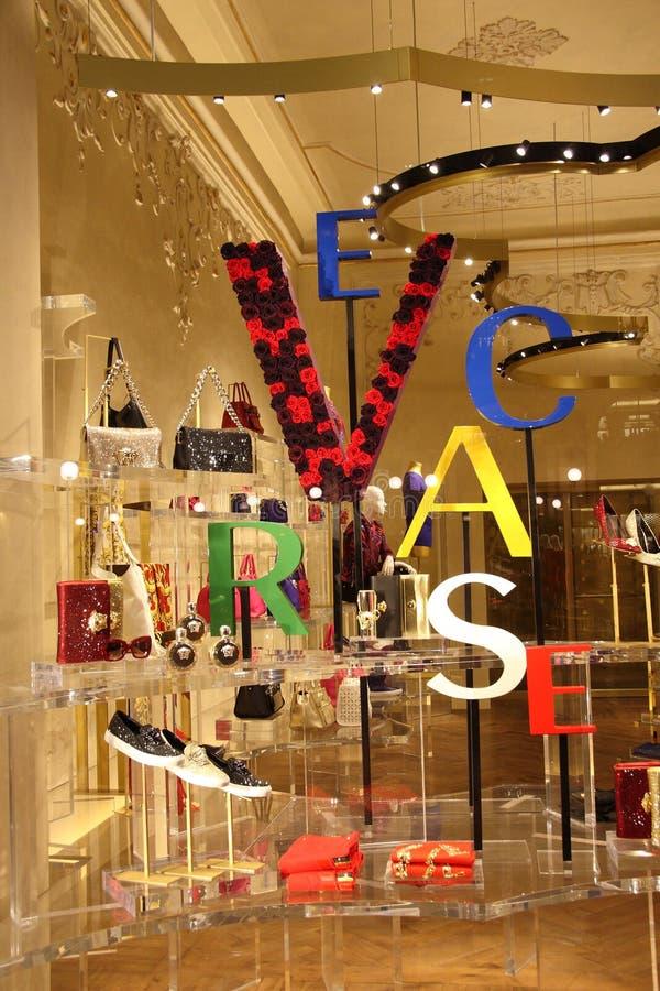 Boutique de Versace photographie stock