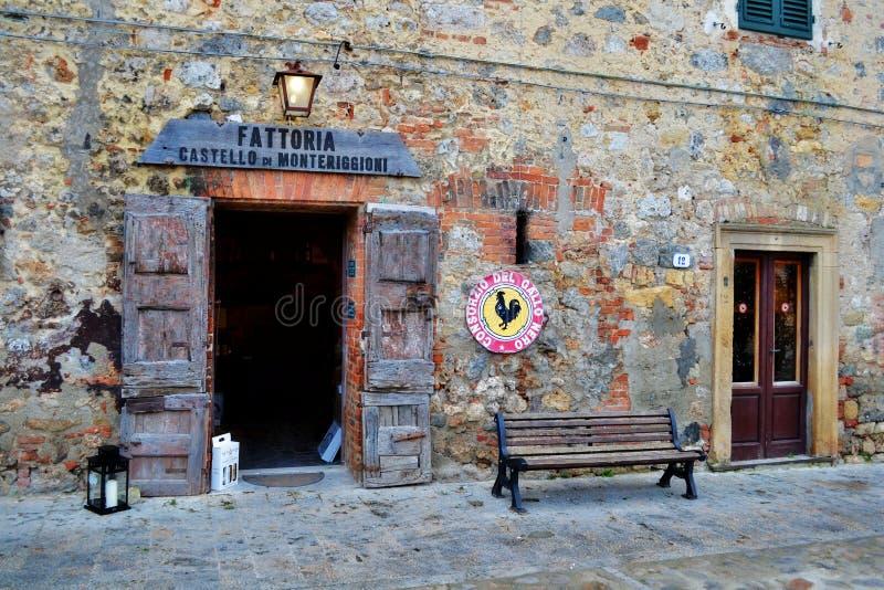 Boutique de vin en Toscane, Italie photos stock