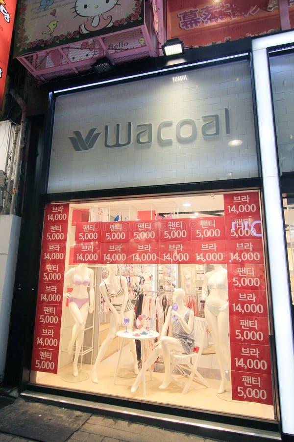 Boutique de Wacoal à Séoul image libre de droits