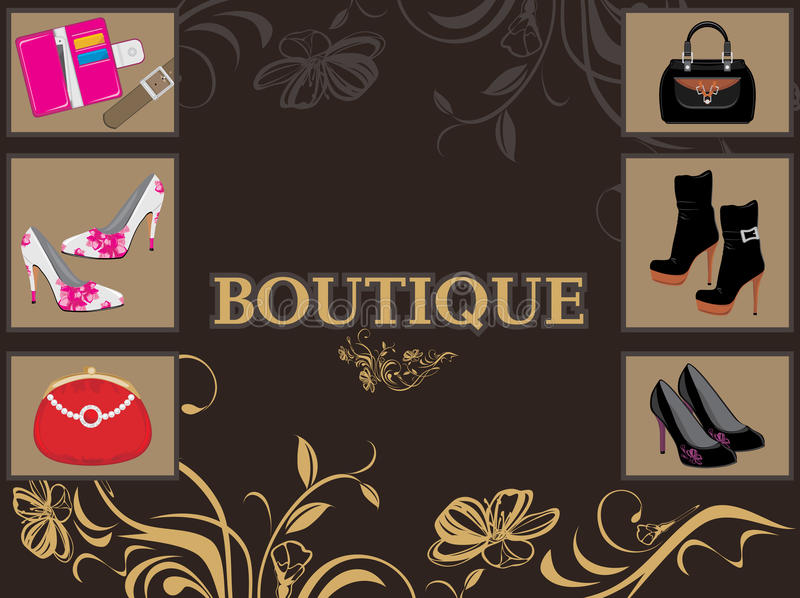 Boutique. Design for shop royalty free stock photography