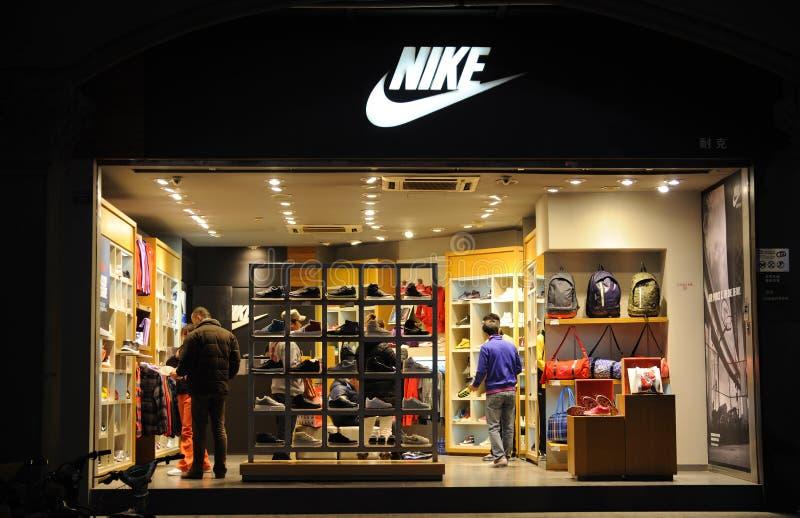 Boutique di modo Nike fotografie stock