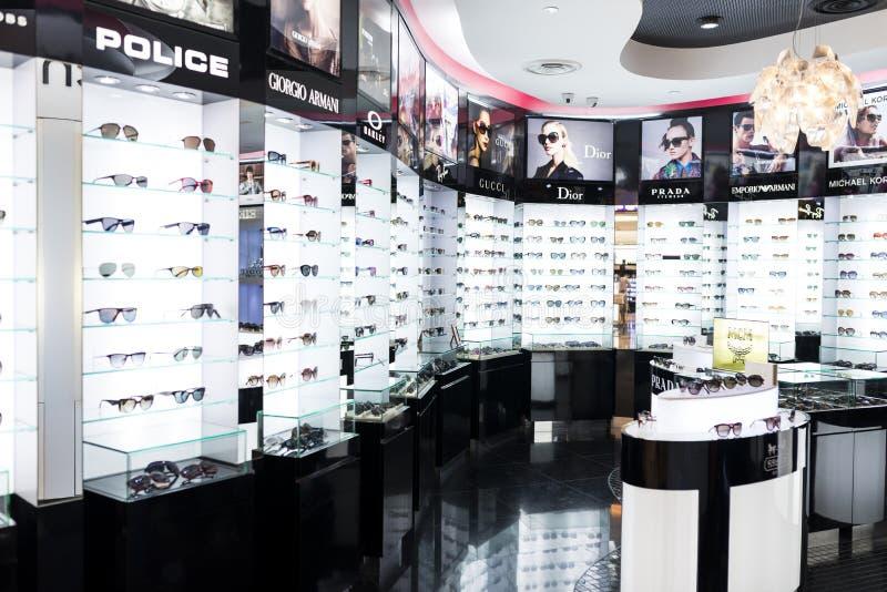 Boutique do Eyewear fotografia de stock royalty free