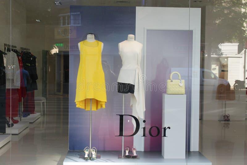 Boutique Do Luxo De Dior Foto de Stock Editorial