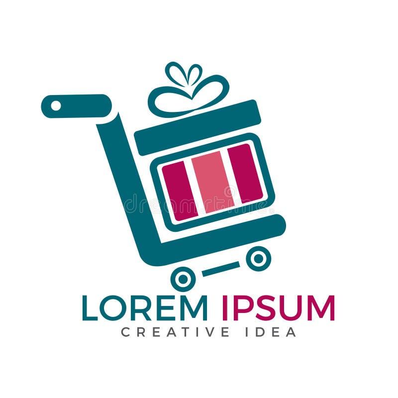Boutique et cadeau Logo Design d'achats illustration stock