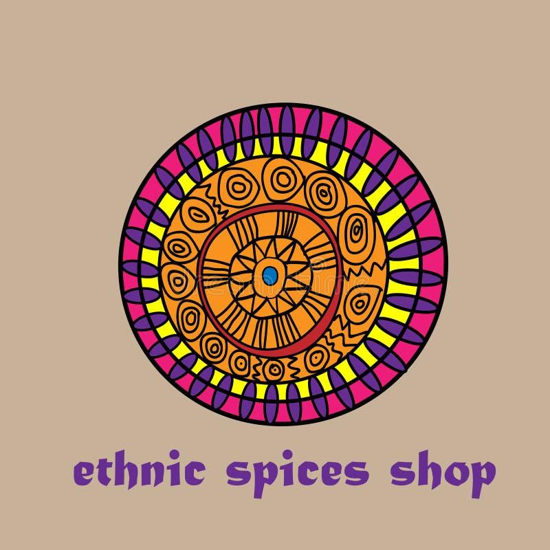 Boutique ethnique d'épices illustration de vecteur