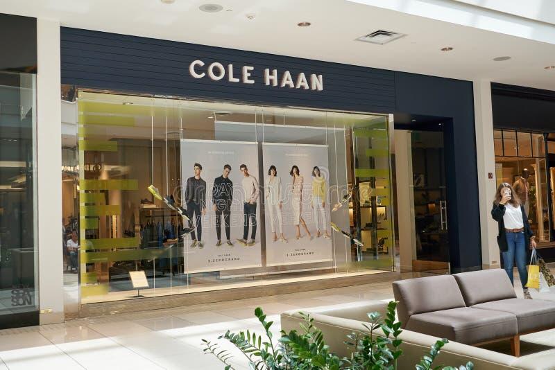 Boutique famoso de Cole Haan fotos de archivo