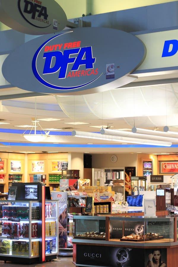 Boutique hors taxe DFA photo stock