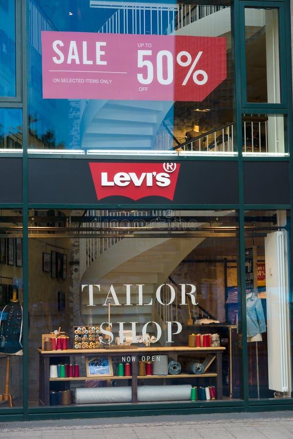 Boutique Levi Strauss sur Kurfuerstendamm photographie stock