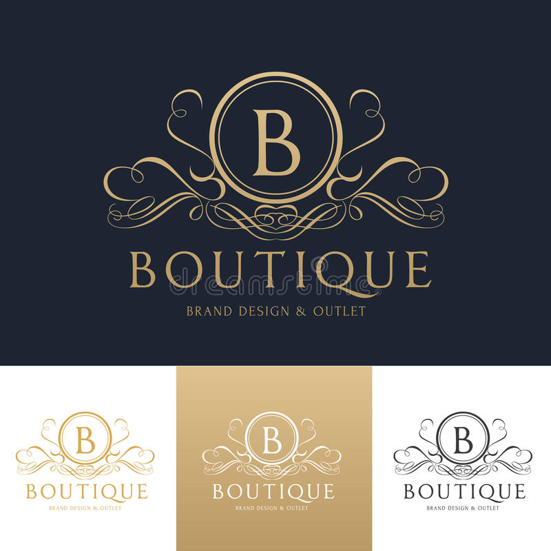 Boutique logo template stock vector. Illustration of brand - 95247113