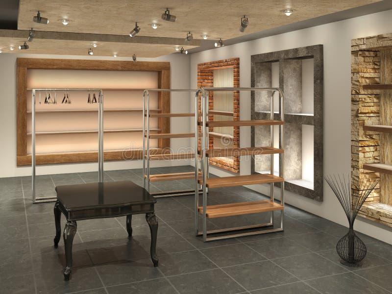 Boutique moderno dentro de vazio, ilustração royalty free