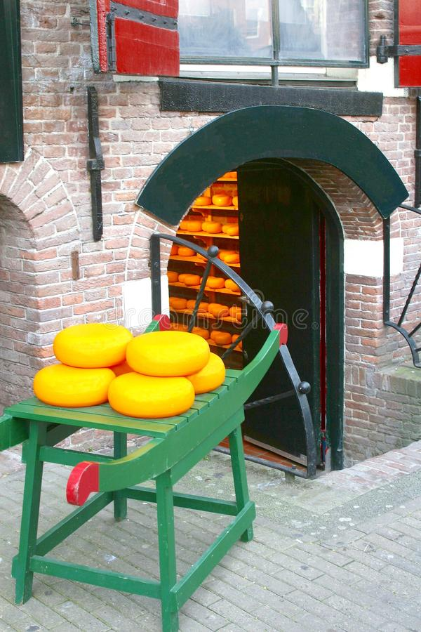 Boutique traditionnelle de fromage de Hollande, Hollande photo stock
