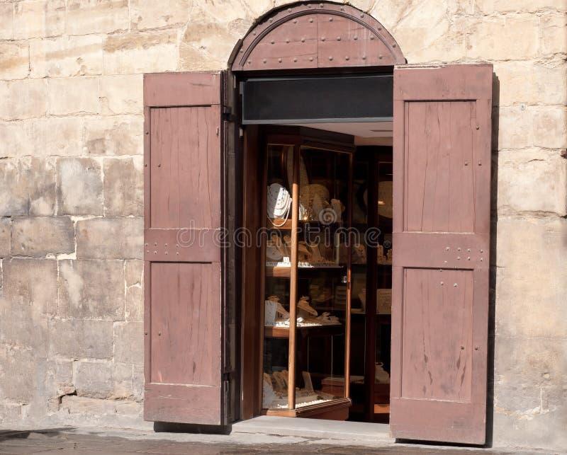Boutique viejo de la joyería fotografía de archivo