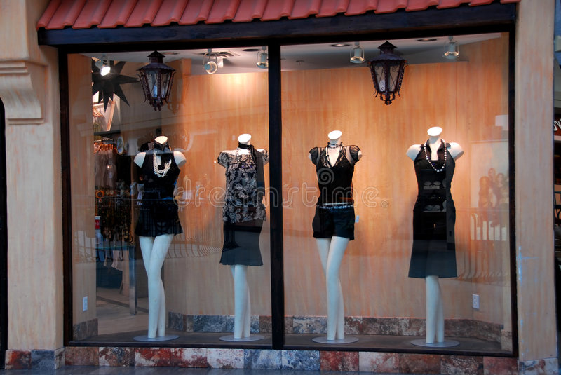 Boutique window royalty free stock photos