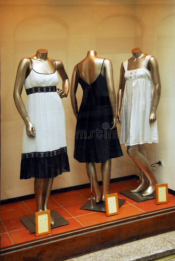 Boutique window stock images