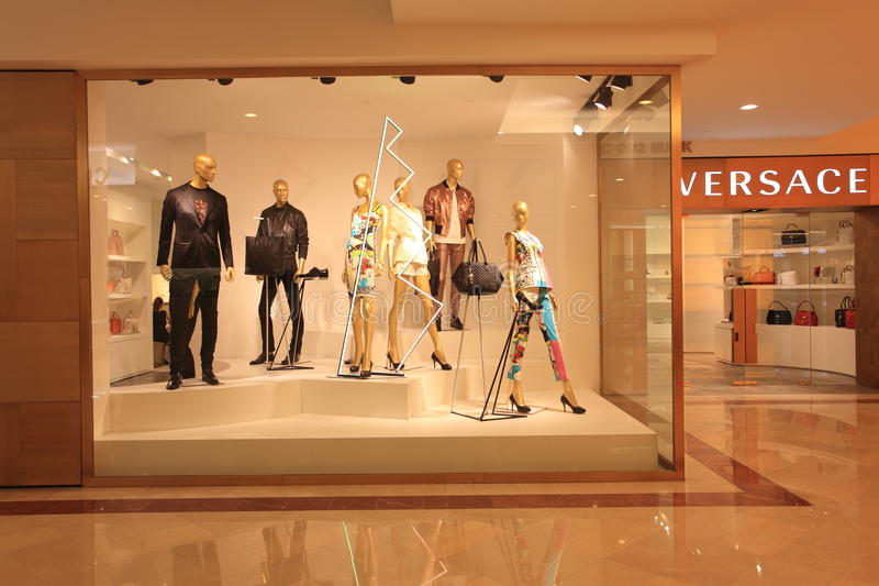 Boutique window,Fashion clothing store stock photos