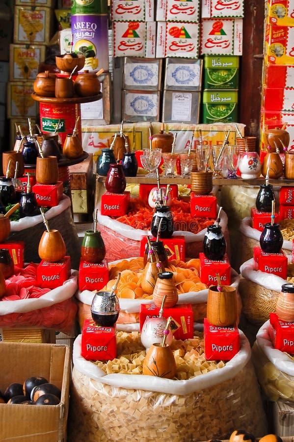 Boutiques dans le bazar d'Alep, Syrie photo stock