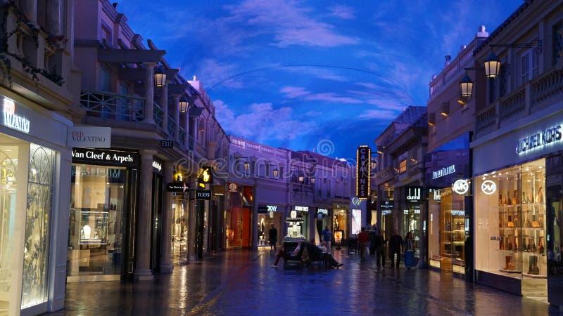 Boutiques de forum à Las Vegas photos libres de droits