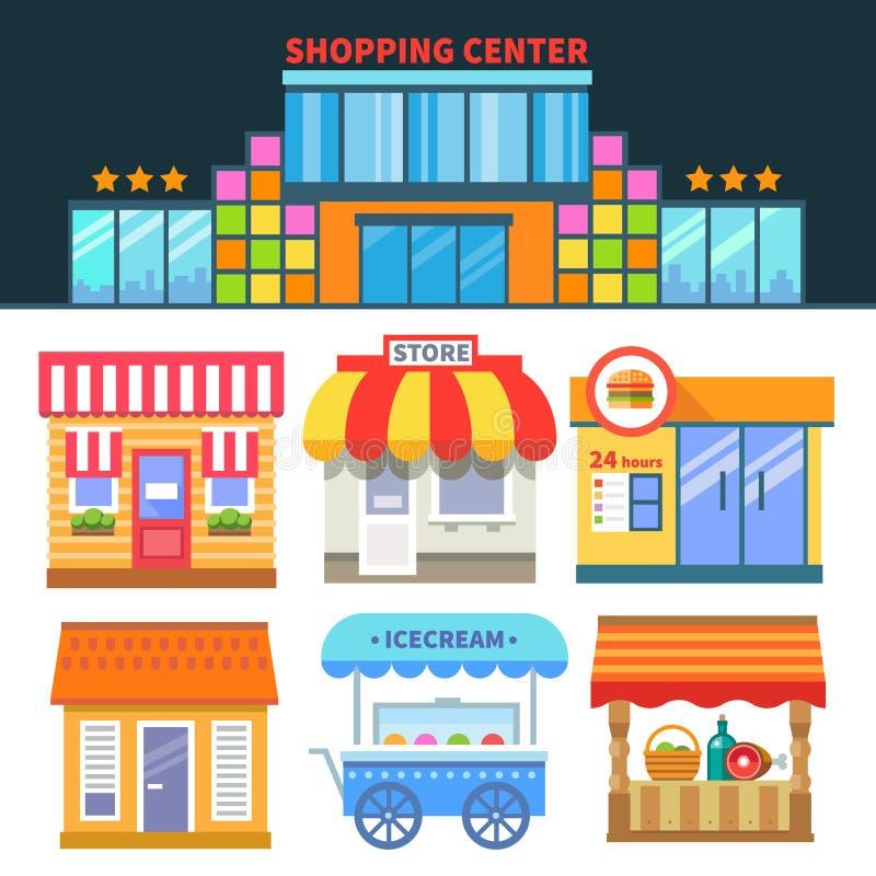 Boutiques et commerce illustration stock