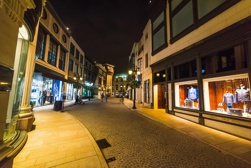 Boutiques in Rodeo Drive. California stock photography