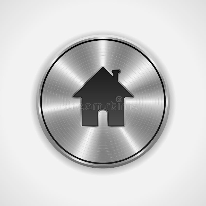 Bouton à la maison, icône illustration de vecteur