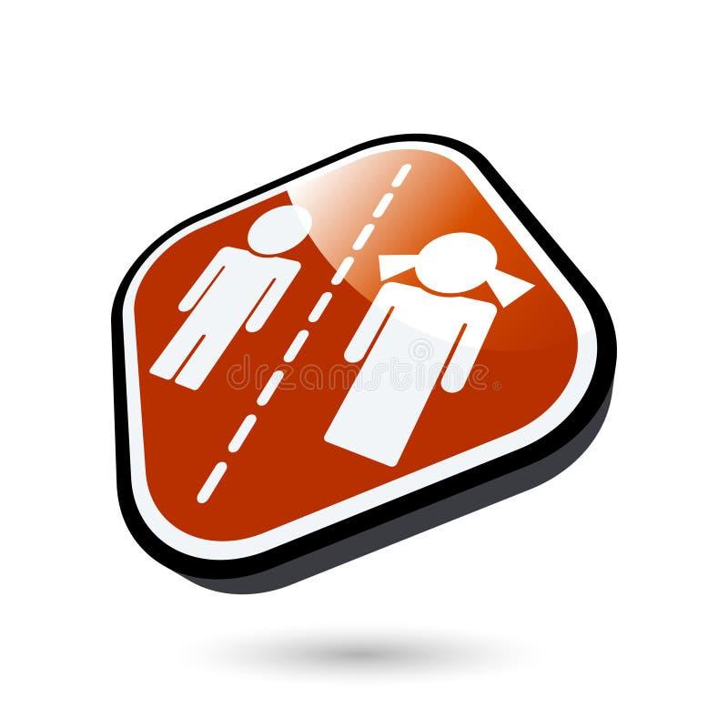 Bouton abstrait de divorce illustration libre de droits