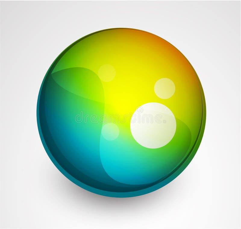 Bouton abstrait de sphère de vecteur illustration libre de droits