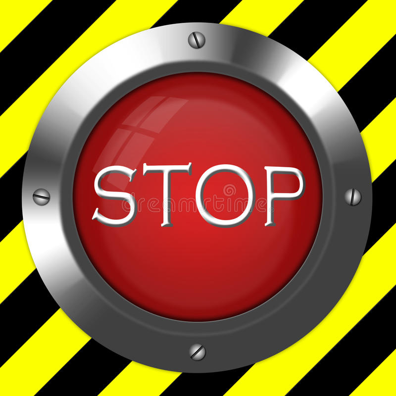 Bouton alerte photos libres de droits