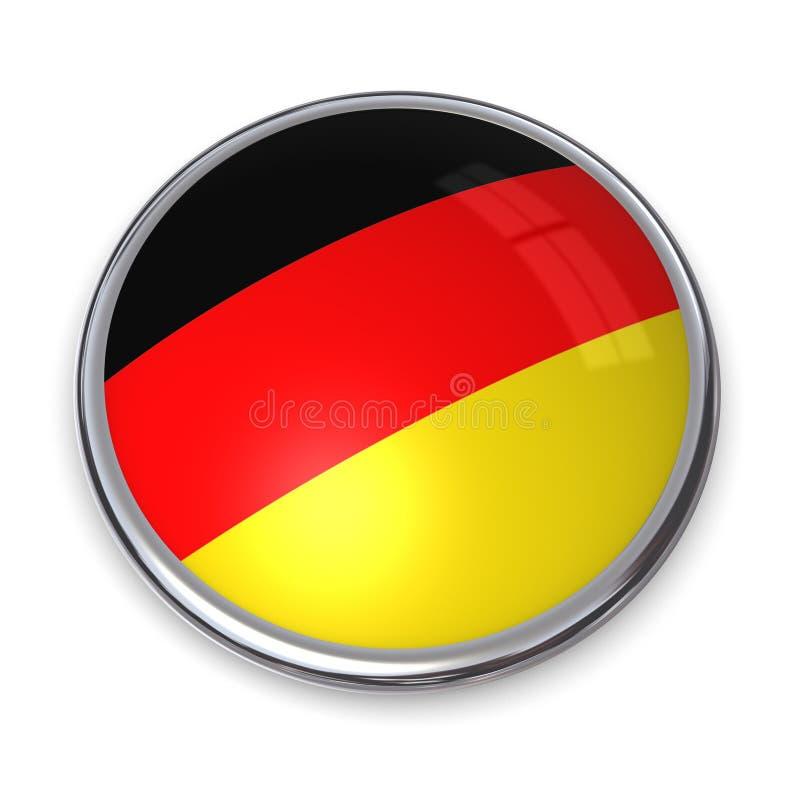 Bouton Allemagne de drapeau