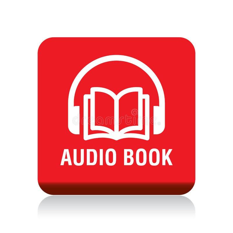 Bouton audio de livre illustration stock