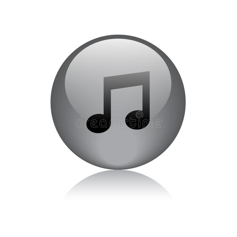 Bouton audio de Web d'icône de musique illustration libre de droits